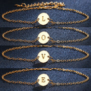 Alpha Female Gold Letter Bracelet - Iconic Style Inc.