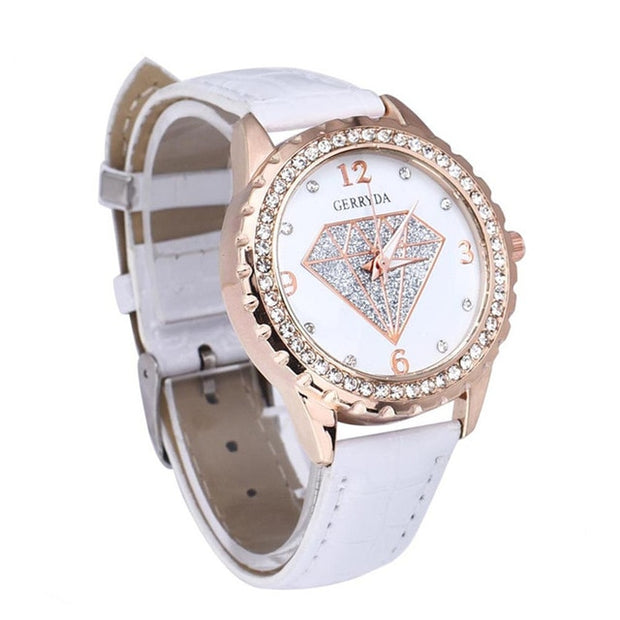 Girl's Best Friend Diamond Face Watch - Iconic Style Inc