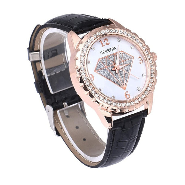 Girl's Best Friend Diamond Face Watch - Iconic Style Inc.