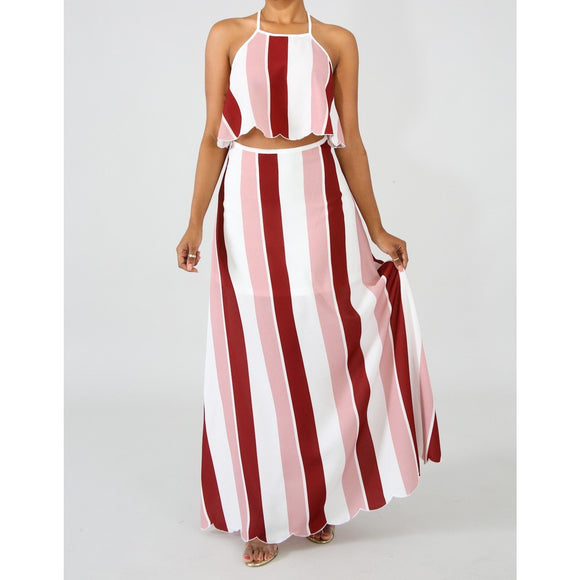 Stripe Maxi Set