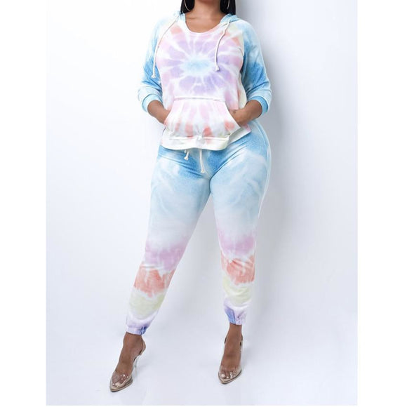 Tie Dye Two Piece Pant Set