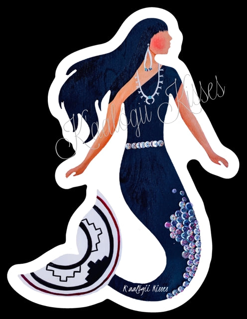 Indigenous Mermaid- Black
