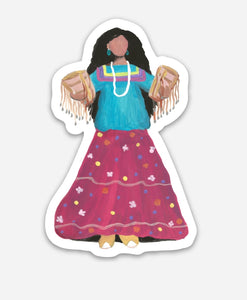 Apache woman sticker