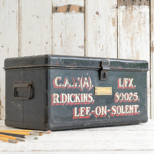 HAND PAINTED TIN TRUNK