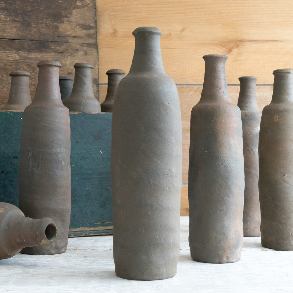 RUSTIC FRENCH POTTERY  CIDER BOTTLE