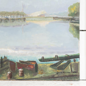 Load image into Gallery viewer, CANAL SCENE OIL PAINTING