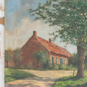 Load image into Gallery viewer, FRENCH FARMHOUSE OIL PAINTING