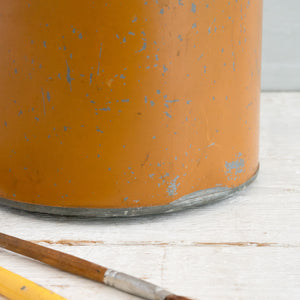 RUSTIC PAINTED TIN TUB