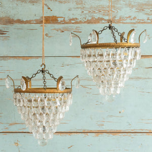 Load image into Gallery viewer, VINTAGE CRYSTAL CHANDELIER #2