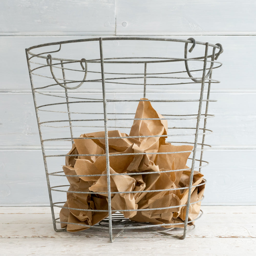 VINTAGE WIRE WORK BASKET