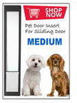 2. MEDIUM Pet Door Insert for a Sliding Door