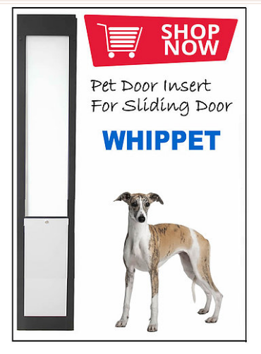 5. Whippet Pet Door Insert for a Sliding Door