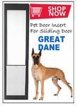 8. Great Dane Pet Door Insert for a Sliding Door
