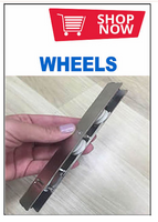 WHEELS For Middle Installation: Double Sliding Doors