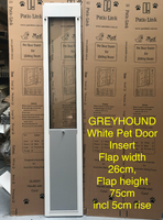 6. Greyhound Pet Door Insert for a Sliding Door