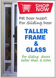 Custom Height Pet Door Insert ADD ON: Taller Frame and Glass