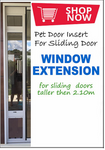 Custom Height Pet Door Insert ADD ON: Window Extension