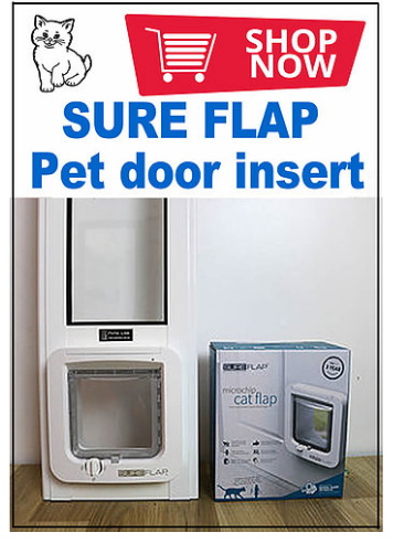9a. SureFlap SMALL Pet Door Insert for a Sliding Door