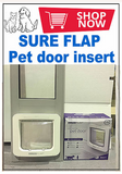 9b. SureFlap MEDIUM Pet Door Insert for a Sliding Door