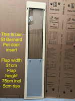 7. St Bernard Pet Door Insert for a Sliding Door