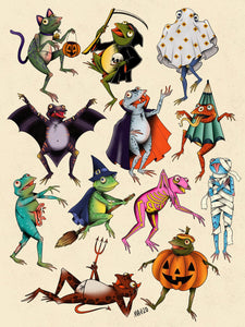 Halloween Frog Sticker Pack