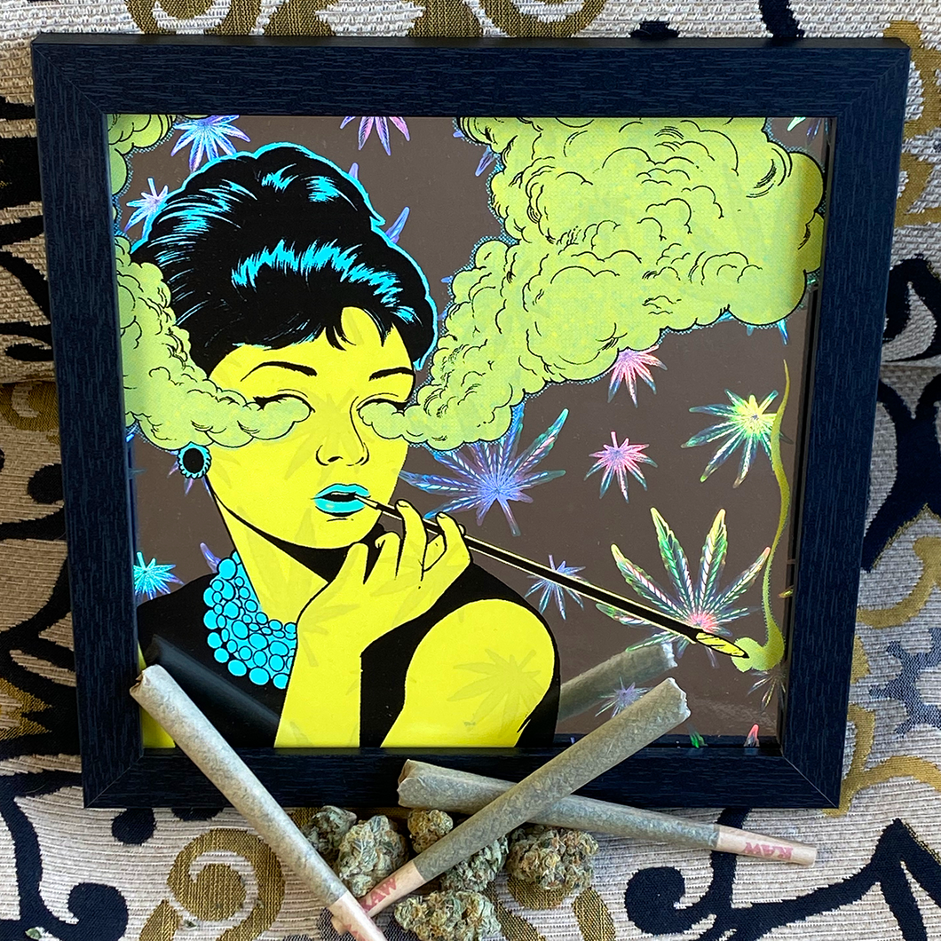 Alex Fine Cannabis Art Print