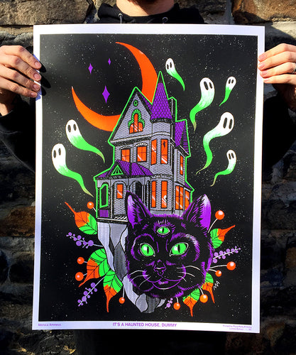 It's A Haunted House, Dummy! - Blacklight Poster