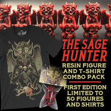 Load image into Gallery viewer, Sage Hunter Resin Figure & Tee Pack
