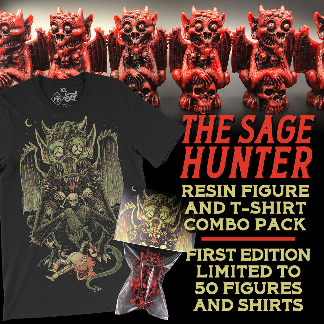 Sage Hunter Resin Figure & Tee Pack