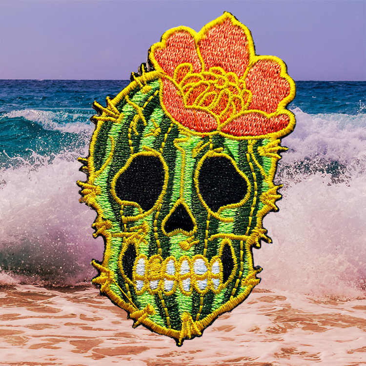 Cactus Skull Embroidered Patch