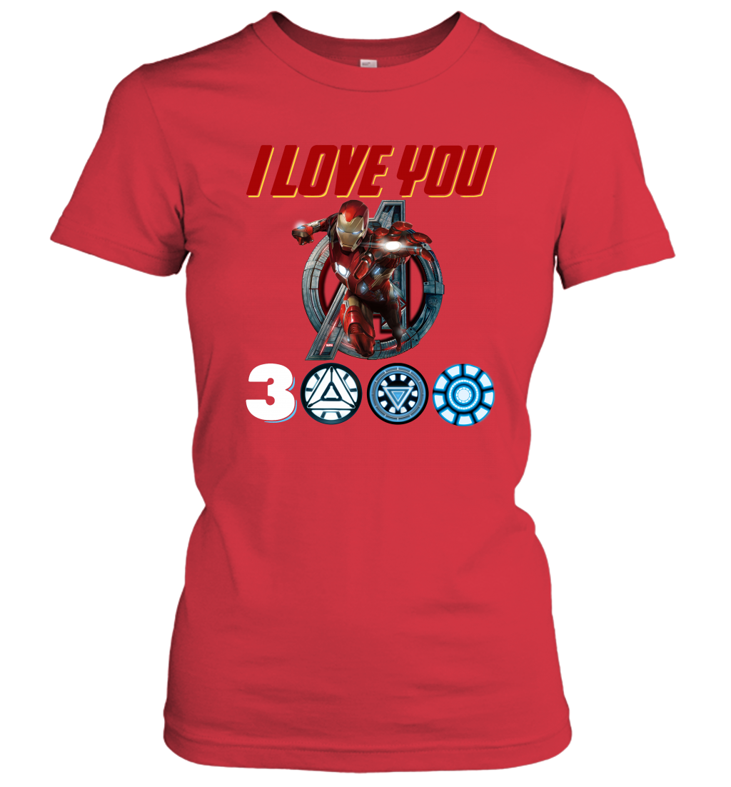 8e987727 I love you 3000 Iron Man Avengers Shirt – All Tee Store