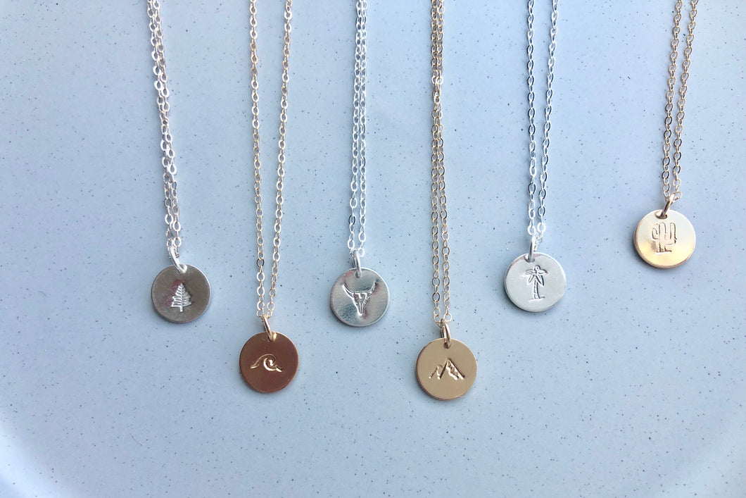 Elements Coin Necklace
