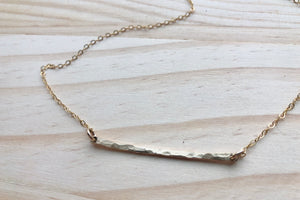 Terra Hammered Bar Necklace