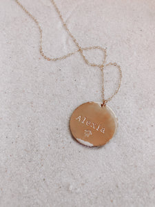 Custom Large Coin Necklace