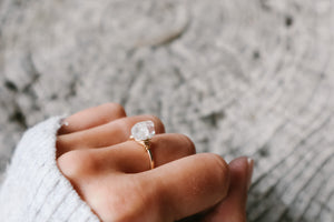 Big Sur Herkimer Diamond Solitaire