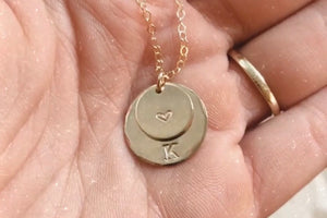 Two Coins Custom Necklace