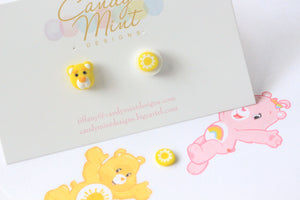 Care Bear Inspired Studs and Clip Ons