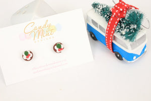 Christmas Pudding Studs and Dangles