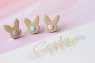Flossy Tail Bunny Studs