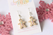 Christmas Gingerbread Man Tri-Colour Gumdrop Dangles