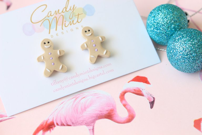 Christmas Gingerbread Studs and Dangles