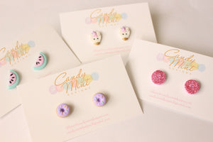 Donut Studs and Clip On