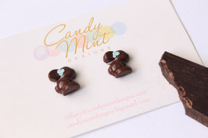 Dark Chocolate Bunny Studs