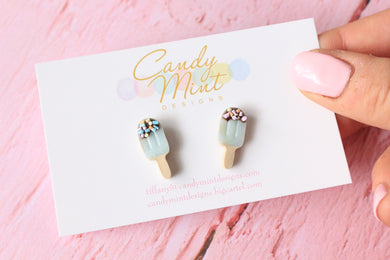 Choc Top Sprinkle Ice Block Studs