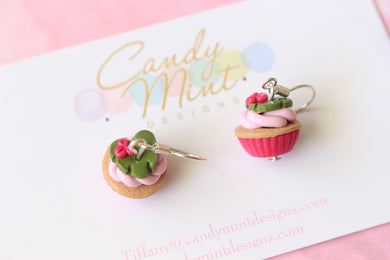 Tropical Inspired Cupcake Dangles