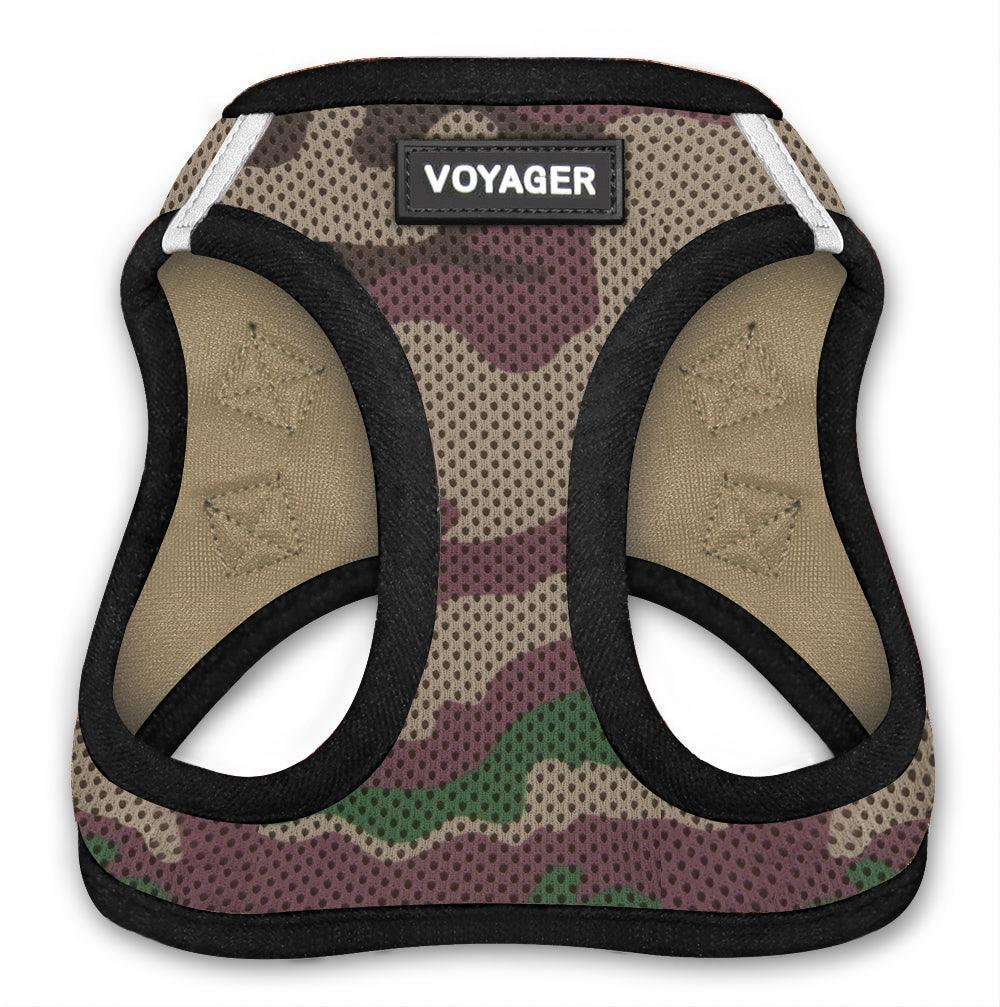 VOYAGER Step-In Air Pet Harness in Camo with Black Trim - Front