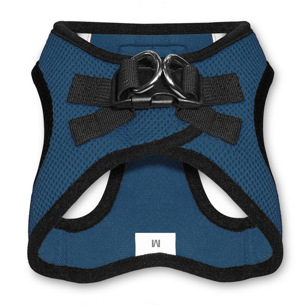 VOYAGER Step-In Air Pet Harness in Navy Blue with Black Trim - Back