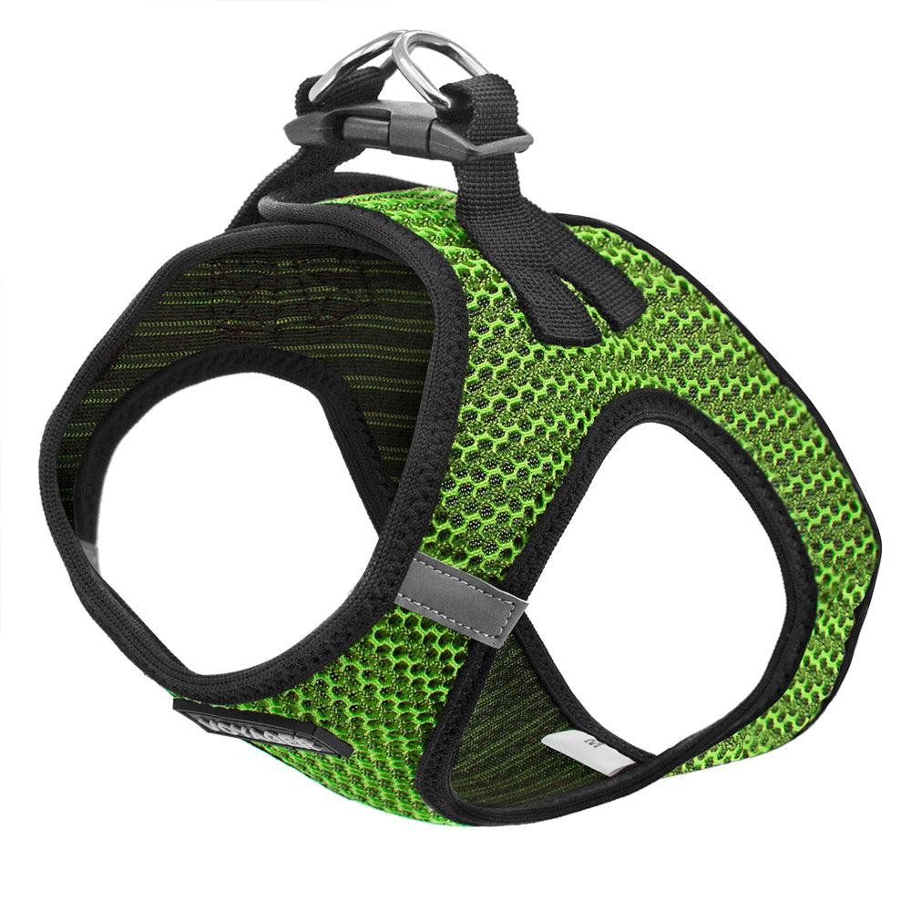 VOYAGER Two-Tone Step-In Air Pet Harness in Lime Green - Expanded