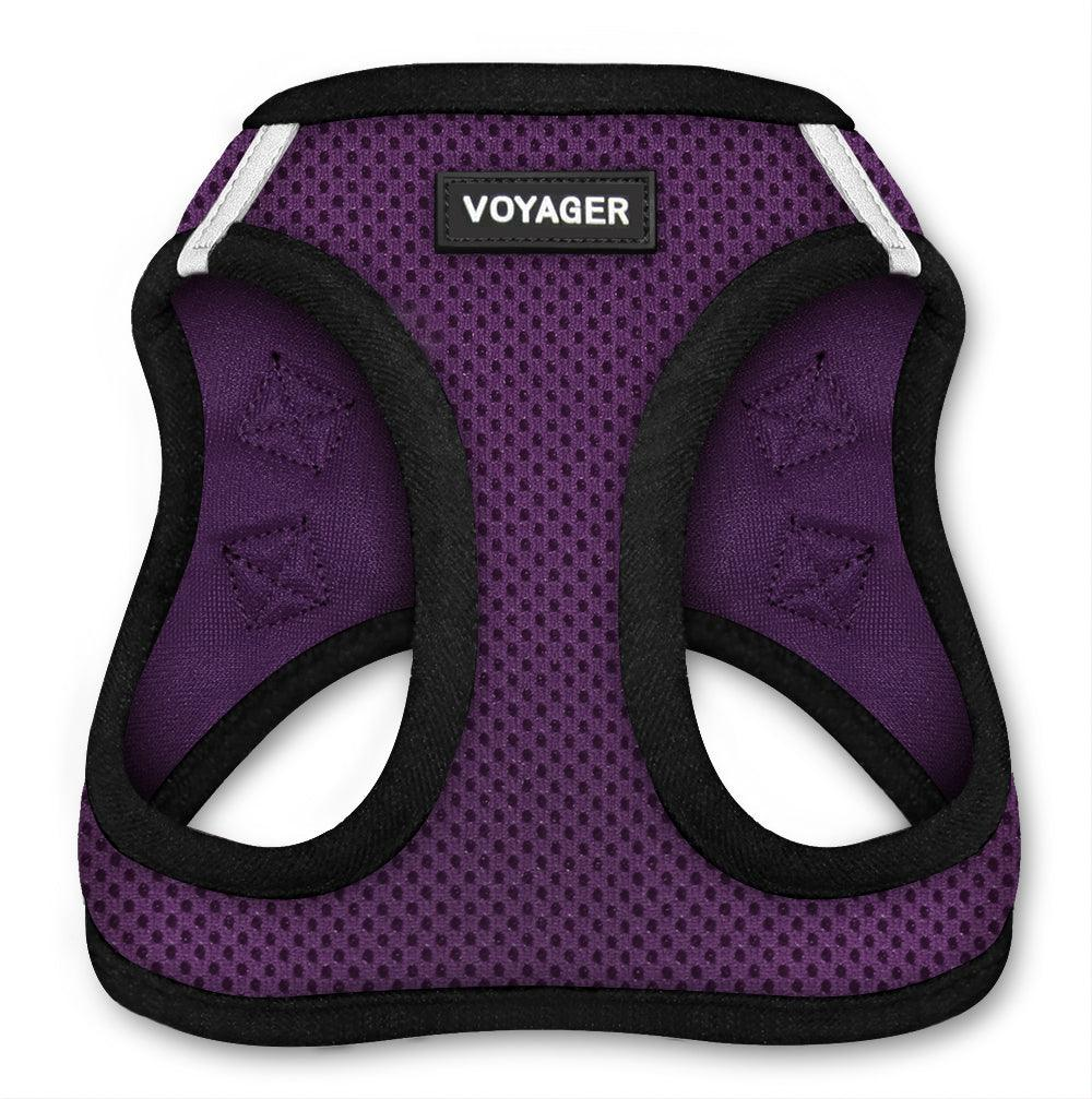 VOYAGER Step-In Air Pet Harness in Purple with Black Trim - Front