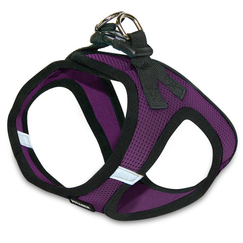 VOYAGER Step-In Air Pet Harness in Purple with Black Trim - Back